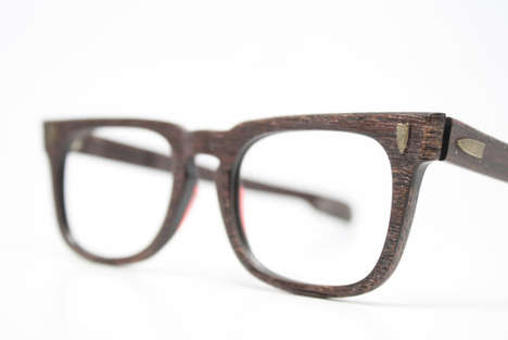 Wooden Hipster Eyewear - These Fake Wooden Glasses by Vintage Optical Shop are Stylish