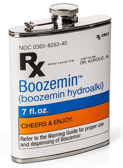 Medicine-Inspired Alcohol Carriers - The Booze Prescription Flask is Hilarious and Fun