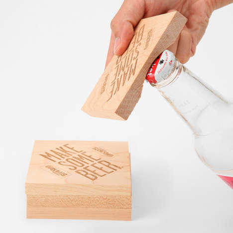Bottle-Popping Beer Mats
