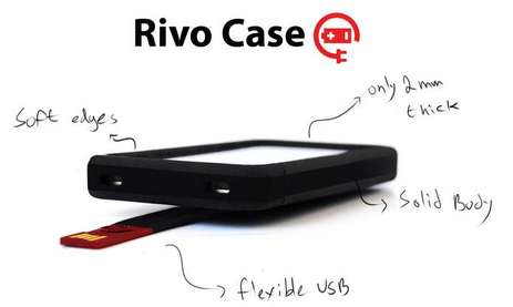 Slim Smartphone Charging Covers - The Rivo Case is the World's Thinnest USB Phone Protecting Charger
