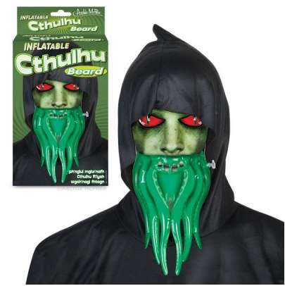 Mythical Facial Hair Accessories - The Inflatable Cthulu Beard Makes a Simple Halloween Costume