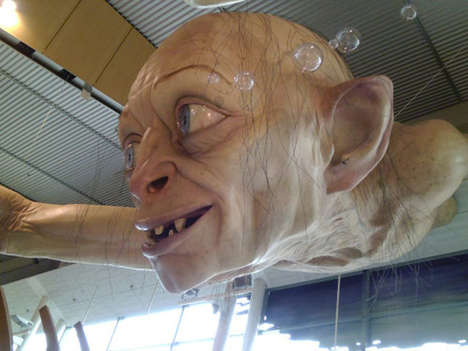 Lifelike Troll Installations - The Giant Gollum Sculpture by Weta Gets Can be Seen at the NZ Airport