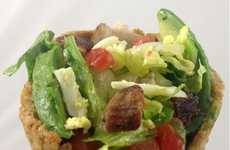 Leafy Green Waffle Wraps - The Crouton Cone Cobb Salad is a Nutrient Rich Treat