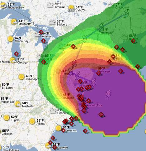 Storm-Locating Maps - The Hurricane Sandy Crisis Map Helps to Prepare for This Natural Disaster
