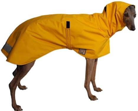 Pooch Storm Protectors - The Greyhound Rain Coat Will Keep Your Dog Safe from Hurricane Sandy
