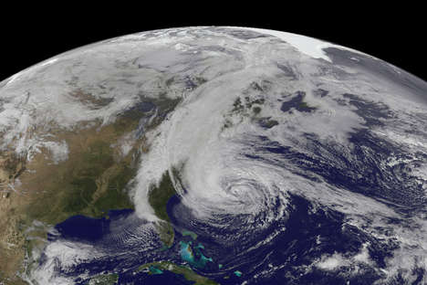 Satellite Storm Snapshots - NASA Helps to Capture Monstrous Hurricane Sandy Pictures