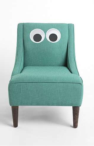 Cute Playhouse Decals - The Giant Googly Eyes Transform Your Furniture Into Cartoon Characters