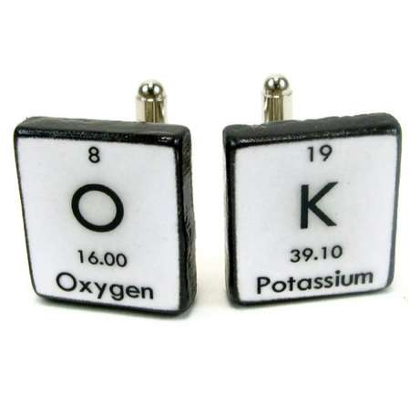 Geeky Periodic Table Accessories - The Chemistry Men Custom Science Cufflinks are Nerdy and Stylish