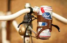 Travelling Drink Holders - The Bike Beer Holder Lets You Enjoy a Brisk Ride and Drink Together