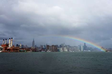 Storm Aftermath Natural Prisms - Noah Kalina Captures the Beautiful Hurricane Sandy Rainbow