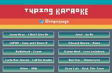 Lyric Typing Games - Typing Karaoke Tests How Fast You Can Pound Out Words to Popular Tracks