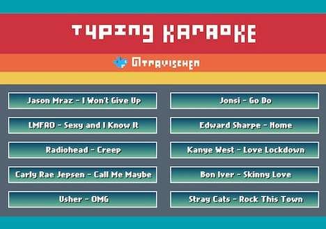 Lyric Typing Games