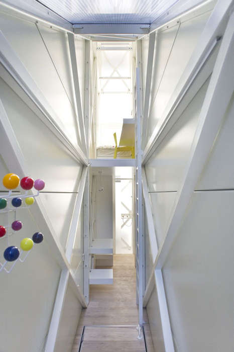 Drastically Narrow Dwellings (UPDATE) - The Keret House by Jakub Szczesny Occupies a Sliver of Space