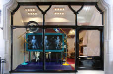 Skeletal Fashion Displays - Christian Louboutin X-Ray Windows Reveals What's Inside a Good Design