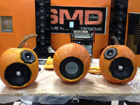 Powerful Pumpkin Speakers - Blast Some Spooky Music on the Hand-Carved Pumpkin Sound System