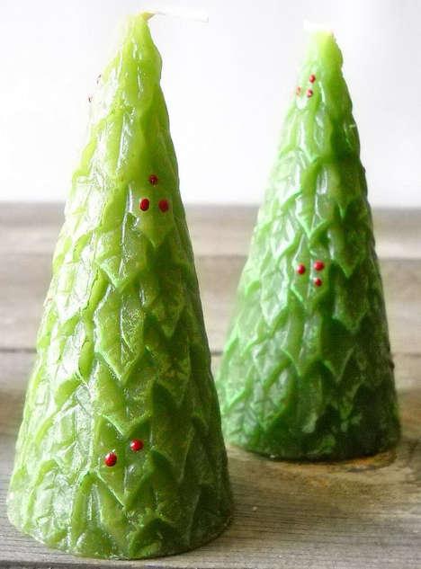 Holiday Tree Candlesticks