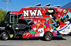 Espionage-Themed Food Trucks - The Ninjas with Appetite Truck Celebrates Ninjutsu Culture