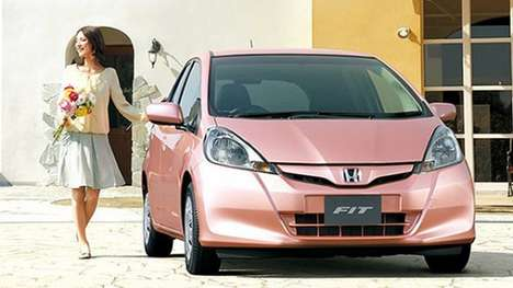 Ultra-Feminine Automobiles - Cars Get a Girly Makeover with the Honda Fit She's