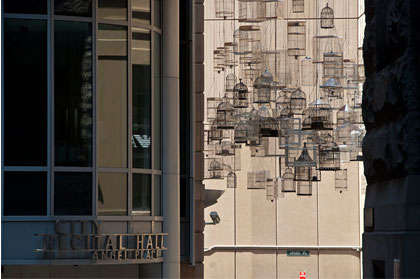 Suspended Bird Cage Installations - Michael Thomas Hill Remembers Avians with The Forgotten Songs