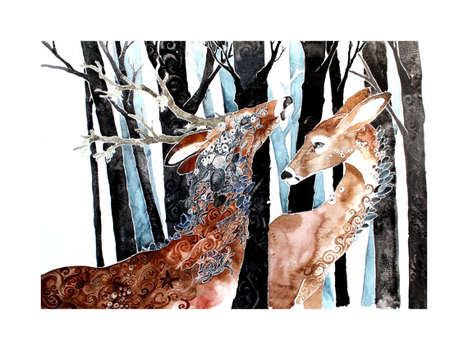 Wildlife Watercolor Paintings - Peter Sandker Paints Stunning Forest Creature Artworks