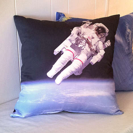 Intergalactic Throw Pillows - Geography Handmade makes Out of this World Screen Printed Pillows