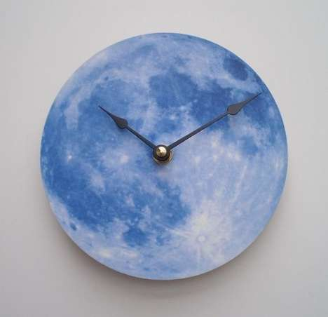 Lunar-Shaped Chronographs  - These Moon Shaped Clocks by CyberMoon are Out of this World