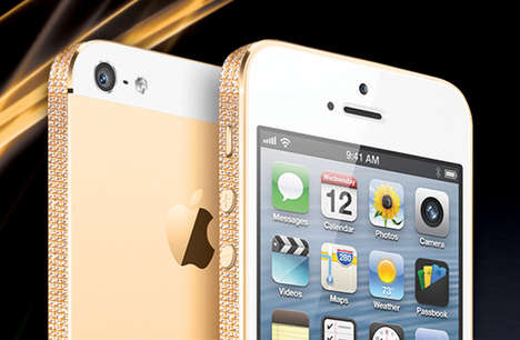 Gold-Adorned Phone Shells