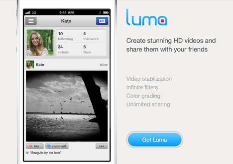 Video Stabilizing Smartphone Apps - Luma Transforms Shaky Footage Into Smooth Shots