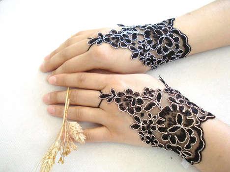 Exquisite Blossom-Inspired Gloves