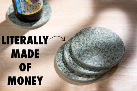 Shredded Cash Mug Mats