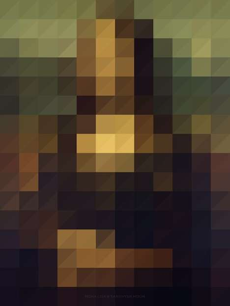 Famed Pixelated Paintings - Sanghyuk Moon Digitized Classic Paintings to Test Their Iconic Status