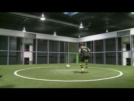Sports Shooting Simulation Machines - The Footbonaut Kicks Soccer Training Up a Notch