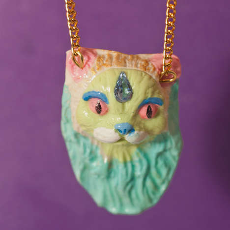 The Ginette Lampalme Cat Necklaces are Whimsical and Charming