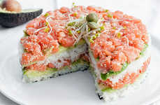Japanese Dish Desserts - Sushi Cake is a Savory Meal That Looks Incredibly Sweet