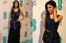 LED Social Media Frocks - Nicole Scherzinger Lights Up in This High-Tech Light Up Twitter Dress