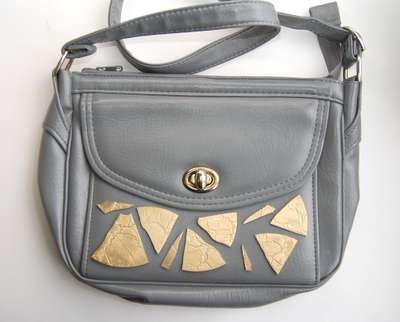 Shattered Metal Bag Decals - This Metal Purse DIY Adds Glittering Spunk to One's Handbag