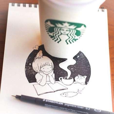 Playful Java Cup Art