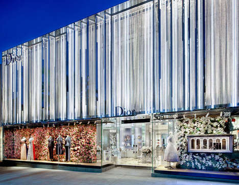 Floral Fairytale Designer Storefronts - The Dior Beverly Hills Location has Been Revamped