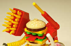 Fast Food Philanthropy Toys - Creations for Charity Big Mak Figurines Help Children in Need