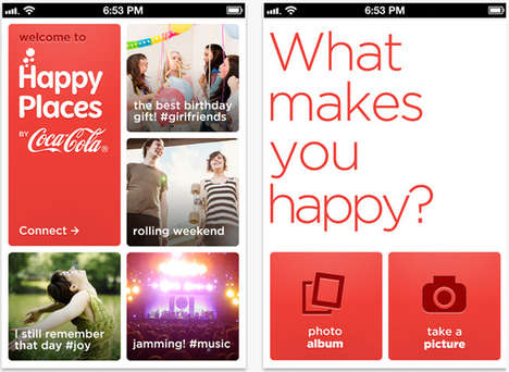 Soft Drink Photo Apps - Coca-Cola Happy Places Lets You Share Joyful Filmed Moments With Friends