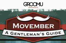 Movember Mustache Rules - The Gentleman's Guide to Movember Infographics Dictates What Not to Do