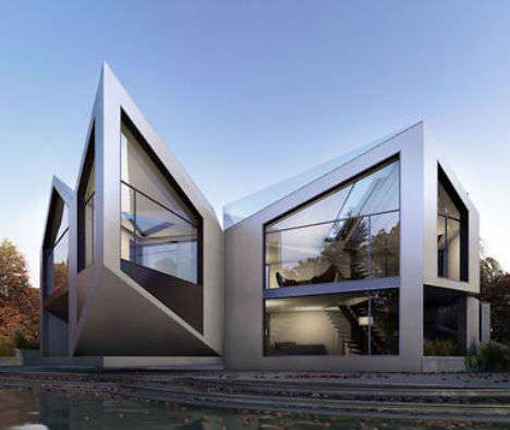 Pointed Morphing Homes - The D Haus Can be Configured 8 DIfferent Ways