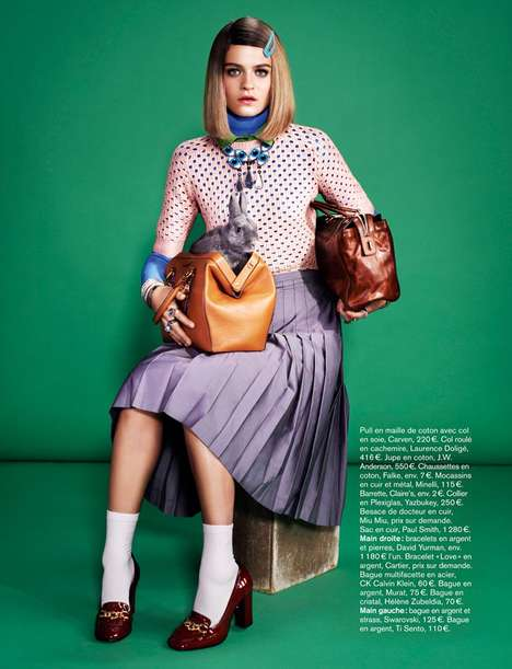 Eccentric Socialite Editorials - Glamour France 'High Society' Photoshoot Stars Rintje van Witjck