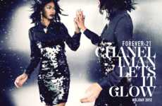 Famed Model Holiday Lookbooks - Chanel Iman Shines Bright in Forever21's Holiday Campaign