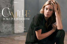 Effortlessly Steamy Editorials - The Camille Rowe Madame Figaro Photoshoot is Casually Cozy