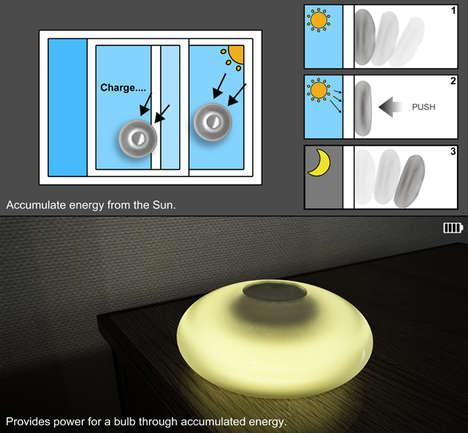 Suctioning Solar Lights