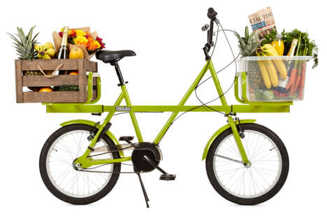 Cargo-Carrying Bicycles - The Donky Bike Lessens Your Burden with Front and Rear Mounted Racks