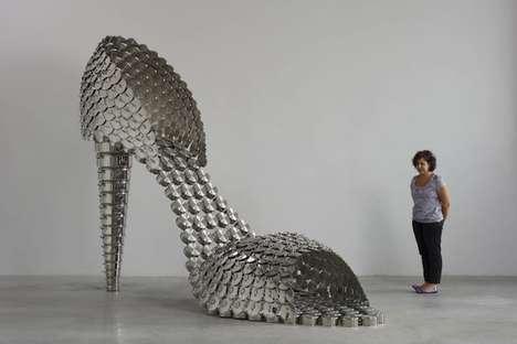 Cookware-Inspired Footwear Art