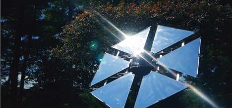 Sunlight-Tracking Garden Mirrors
