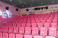 Cartoon Feline Cinemas - The Hello Kitty Themed Movie Theatre Leaves Girly-Girls in Awe